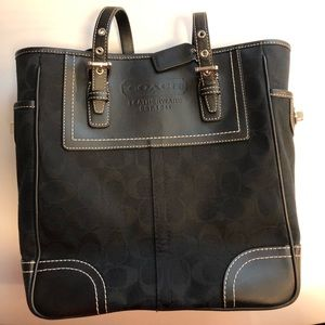 Black cloth coach bag